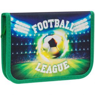 """Пенал 1 отделение, 190*130 ArtSpace """"Football"""", дополнительная откидная секция, ткань"""