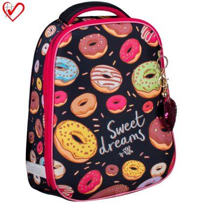 """Ранец Berlingo Expert """"Sweet donuts"""" 37*28*16см, 2 отделения, 1 карман, анатомическая спинка"""