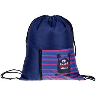 """Мешок для обуви 1 отделение ArtSpace """"Funny monster"""", 340*410мм, карман на молнии"""