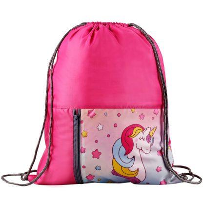 """Мешок для обуви 1 отделение ArtSpace """"Unicorn"""", 340*410мм, карман на молнии"""