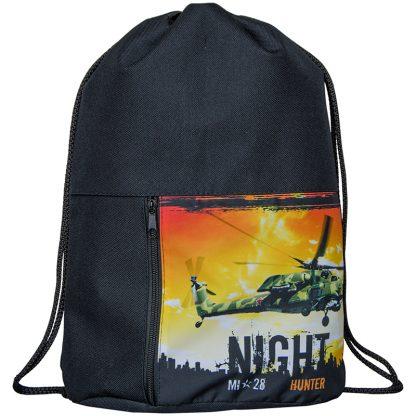 """Мешок для обуви 1 отделение ArtSpace """"Военные вертолеты"""", 340*410мм, карман на молнии"""