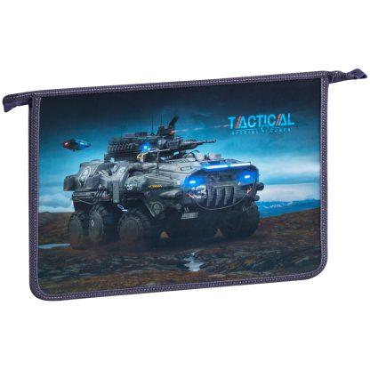 """Папка для тетрадей 1 отд., А4, ArtSpace """"Tactical"""", пластик-картон,на молнии"""