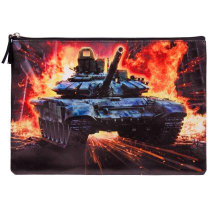"""Папка для тетрадей 1 отделение, А4, Berlingo """"Tank"""", ПВХ, на молнии"""
