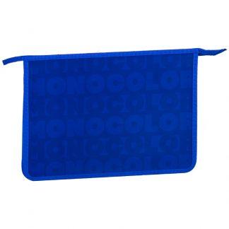 """Папка для тетрадей 2 отделения, А4, ArtSpace """"Синий моноколор"""", пластик, на молнии"""