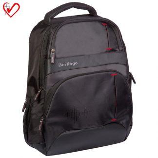 "Бизнес-рюкзак Berlingo ""Premium black"" 46*33*16см, 2 отд., 4 карм., отд. д/ноутб., эргоном. спинка"