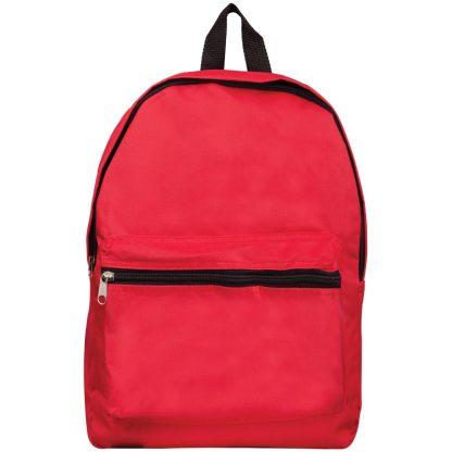 Рюкзак ArtSpace Simple Street, 37*26*11см, 1 отделение, 1 карман, уплотненная спинка, красный