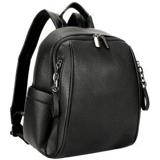 Рюкзак Ors Oro, 32*27*14см, 1 отделение, 5 карманов, экокожа, черный