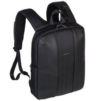 Рюкзак для ноутбука 14″-15″ RivaCase 8125, исскуственная кожа, полиэстер, черный, 400*290*70мм