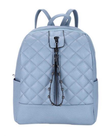 Рюкзак Ors Oro, 31*26*11см, 1 отделение, 4 кармана, экокожа, темно-голубой