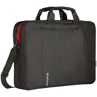 Сумка для ноутбука 15″-16″ Defender Geek, нейлон, черный, 430*350*110мм