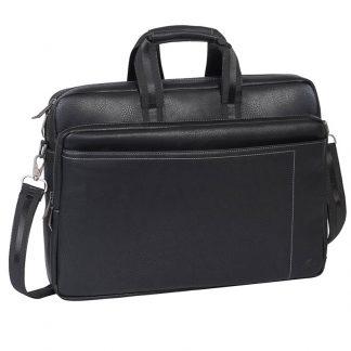 Сумка для ноутбука 16-17″ RivaCase 8940, исскуственная кожа, полиэстер, черный, 430*305*100мм