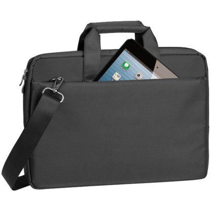 Сумка для ноутбука 15,6″ RivaCase 8231, полиэстер, черный, 385*265*45мм