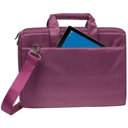 Сумка для ноутбука 15,6″ RivaCase 8231, полиэстер, пурпурный, 385*265*45мм