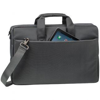 Сумка для ноутбука 17,3″ RivaCase 8251, полиэстер, серый, 430*298*50мм